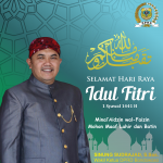 Wakil Ketua DPRD Bondowoso Mengucapkan Selamat Hari Raya Idul Fitri 1441 H